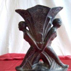 Antigüedades: JARRÓN DE CERÁMICA NEGRA, MODERNISTA.. Lote 84723396