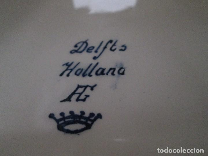 Antigüedades: molino con caja de musica = ceramica azul de delf Holanda - Foto 7 - 84731920