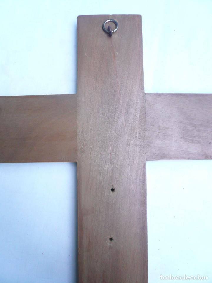 Antigüedades: ANTIGUO CRISTO DE OLOT. OJOS DE CRISTAL. CON SELLO EL ARTE CRISTIANO OLOT - Foto 12 - 84749700