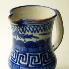 Antigüedades: IMPRESIONANTE JARRA ANTIGUA SERIE BLANCA Y AZUL DE MANISES FIRMADA V.M.O VICENTE MORA OSCA SIGLO XIX. Lote 84750024