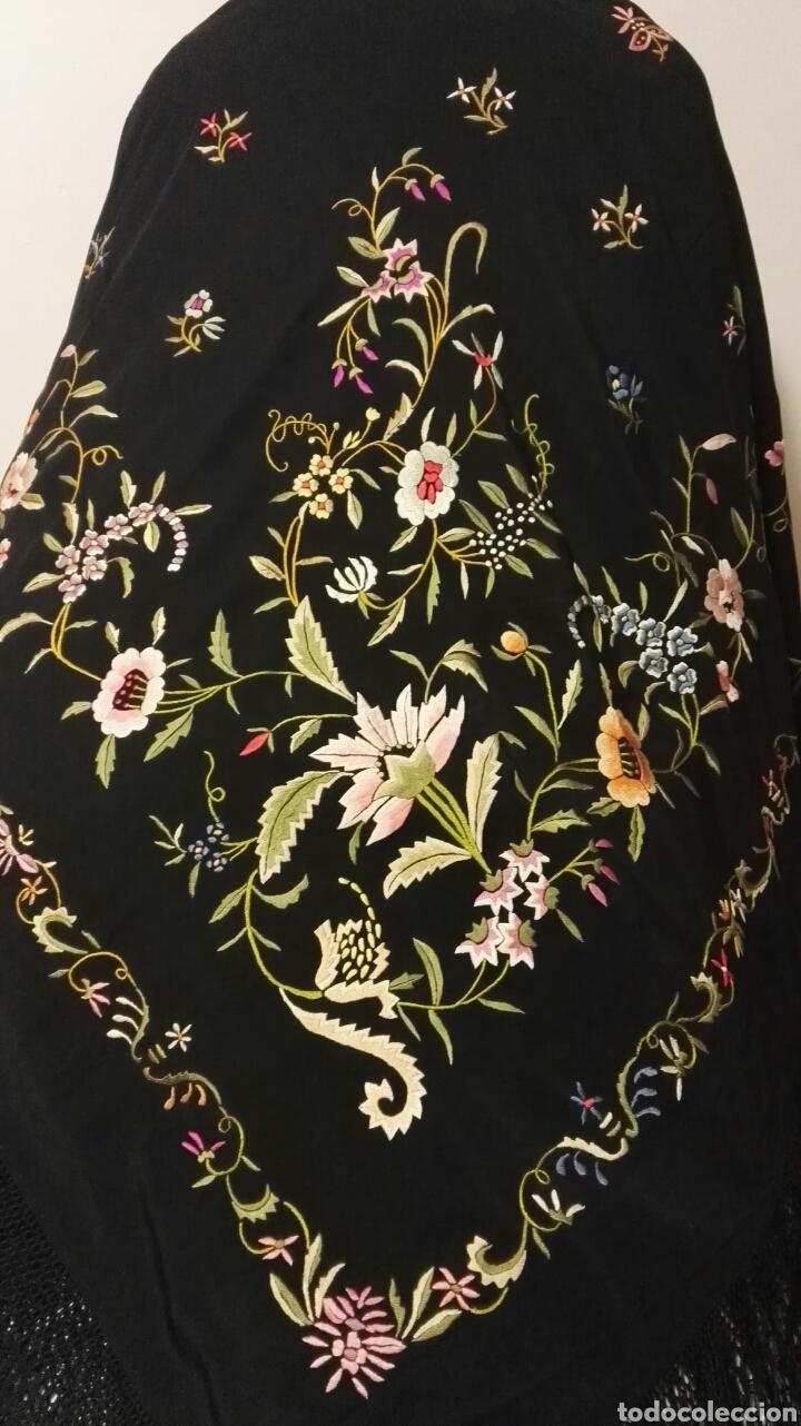 Antigüedades: Impresionante mantón estilo imperio - Foto 13 - 84741324