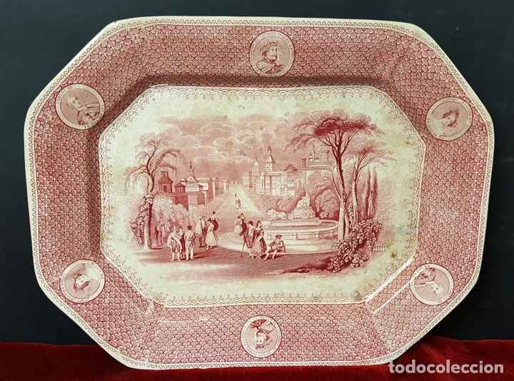 Antigüedades: PAREJA DE BANDEJAS. PORCELANA. W. ADAMS AND SONS. INGLATERRA. SIGLO XIX. - Foto 2 - 84789904