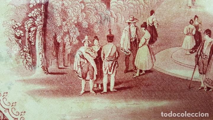 Antigüedades: PAREJA DE BANDEJAS. PORCELANA. W. ADAMS AND SONS. INGLATERRA. SIGLO XIX. - Foto 5 - 84789904
