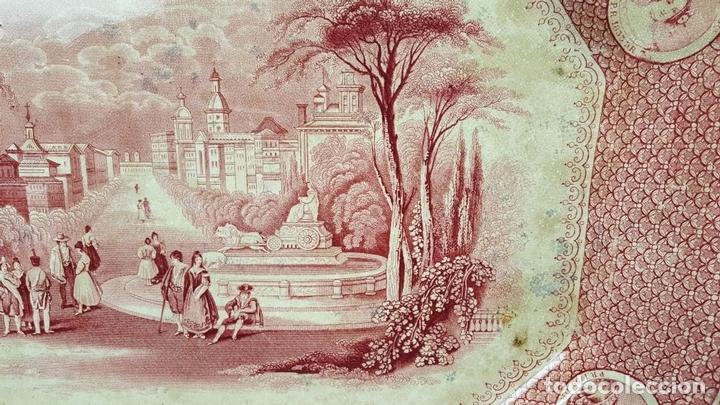 Antigüedades: PAREJA DE BANDEJAS. PORCELANA. W. ADAMS AND SONS. INGLATERRA. SIGLO XIX. - Foto 6 - 84789904