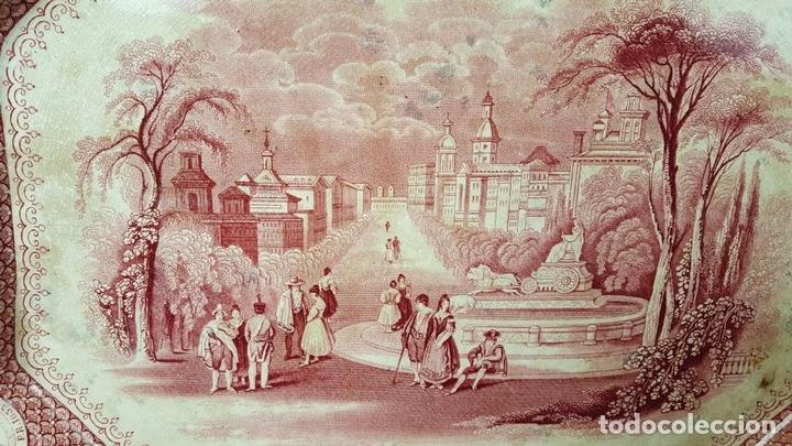 Antigüedades: PAREJA DE BANDEJAS. PORCELANA. W. ADAMS AND SONS. INGLATERRA. SIGLO XIX. - Foto 7 - 84789904