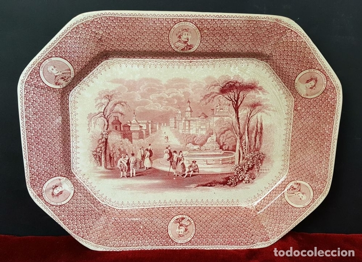 Antigüedades: PAREJA DE BANDEJAS. PORCELANA. W. ADAMS AND SONS. INGLATERRA. SIGLO XIX. - Foto 11 - 84789904