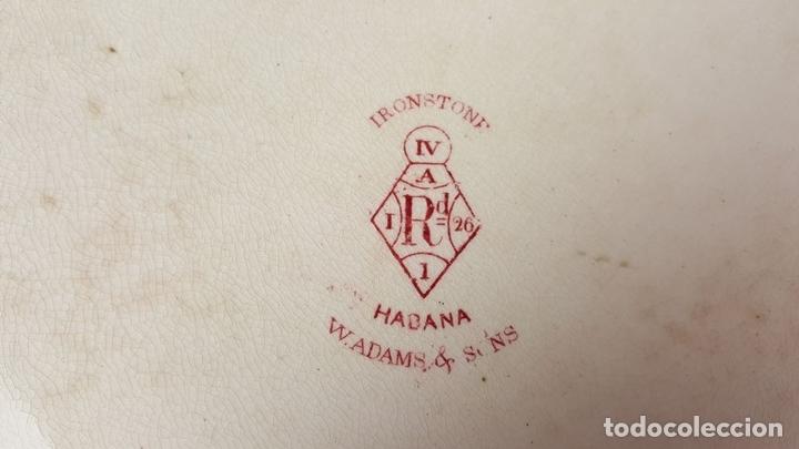 Antigüedades: PAREJA DE BANDEJAS. PORCELANA. W. ADAMS AND SONS. INGLATERRA. SIGLO XIX. - Foto 12 - 84789904