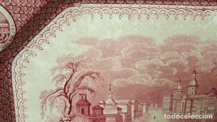Antigüedades: PAREJA DE BANDEJAS. PORCELANA. W. ADAMS AND SONS. INGLATERRA. SIGLO XIX. - Foto 13 - 84789904