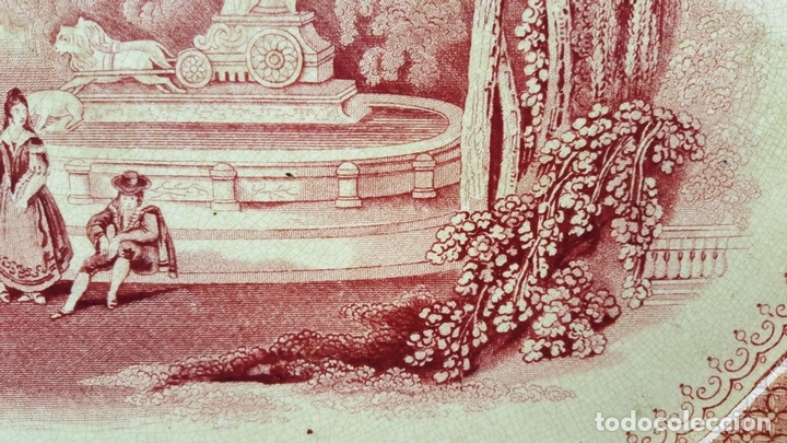 Antigüedades: PAREJA DE BANDEJAS. PORCELANA. W. ADAMS AND SONS. INGLATERRA. SIGLO XIX. - Foto 14 - 84789904