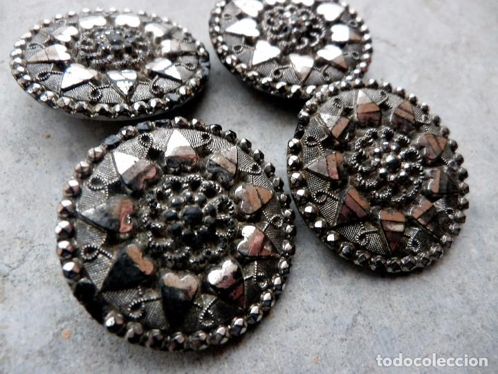 Antigüedades: MARAVILLOSOS botones s XIX época modernista completamente en cristal, de colección! - Foto 2 - 84860520