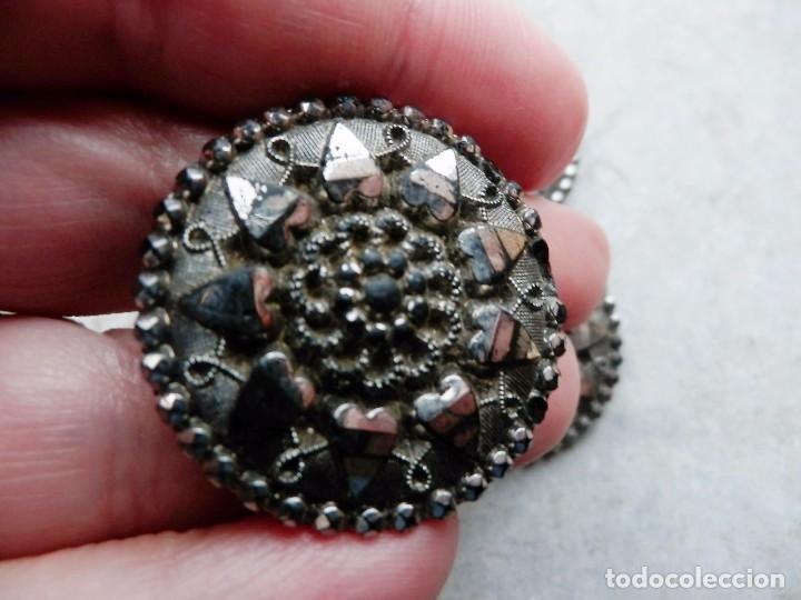 Antigüedades: MARAVILLOSOS botones s XIX época modernista completamente en cristal, de colección! - Foto 3 - 84860520