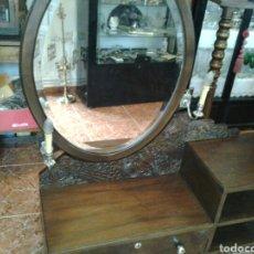 Antigüedades: MUEBLE TOCADOR RESTAURADO CON ESPEJO. Lote 84899519
