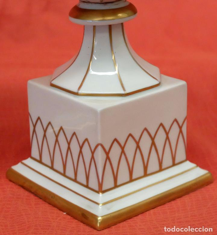 Antigüedades: PRECIOSA PAREJA DE COPAS EN PORCELANA DE SANTA CLARA (MAH) VIGO. CIRCA 1900 - Foto 9 - 84915852