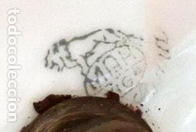 Antigüedades: PRECIOSA PAREJA DE COPAS EN PORCELANA DE SANTA CLARA (MAH) VIGO. CIRCA 1900 - Foto 12 - 84915852