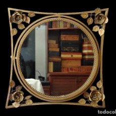 Antigüedades: ANTIGUO ESPEJO DE FORJA DORADO, ESPECTACULAR.. Lote 84935840