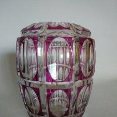 Antigüedades: JARRON CRISTAL DE BOHEMIA. AÑOS 50. Lote 84941938
