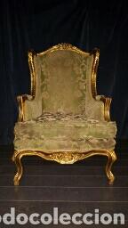 Antigüedades: Conjunto sofa + 2 sillones, tresillo - Foto 2 - 84964416