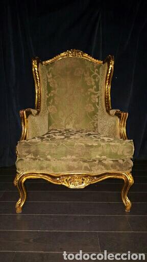 Antigüedades: Conjunto sofa + 2 sillones, tresillo - Foto 3 - 84964416