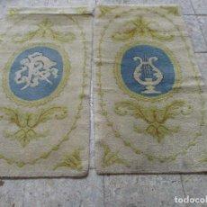 Antigüedades: PAREJA DE ALFOMBRAS EN LANA PERSAS. Lote 139315770