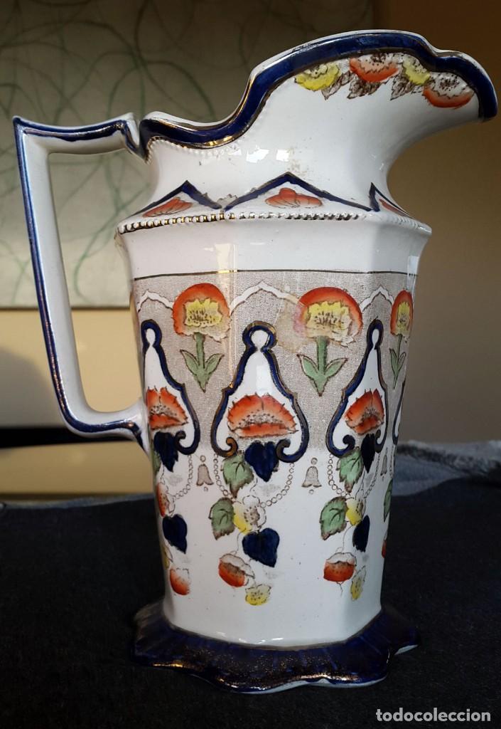 GRAN JARRA INGLESA, BRISTOL, VICTORIANA MUY RARA (Antigüedades - Porcelanas y Cerámicas - Inglesa, Bristol y Otros)