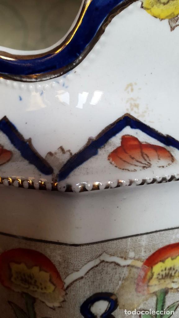 Antigüedades: GRAN JARRA INGLESA, BRISTOL, VICTORIANA MUY RARA - Foto 3 - 84971884