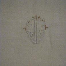 Antigüedades: ANTIGUA TOALLA ART DECO CREPE LINO PPIO.S.XX. Lote 84994632