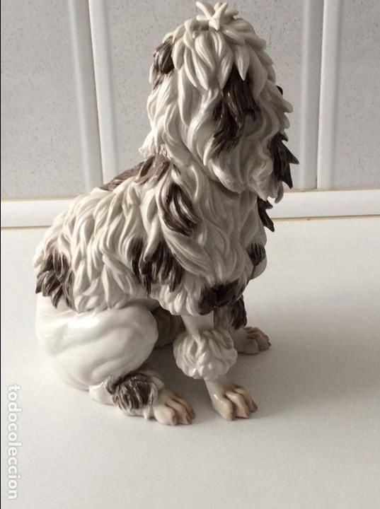 Antigüedades: Perro porcelana Algora - Foto 3 - 84994816