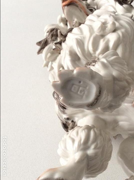 Antigüedades: Perro porcelana Algora - Foto 6 - 84994816
