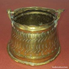 Antigüedades: JARDINERA. BRONCE DORADO. REPUJADO. ESPAÑA. SIGLO XIX-XX.. Lote 84920012