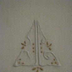 Antigüedades: ANTIGUA TOALLA ART DECO CREPE LINO PPIO.S.XX. Lote 85050272