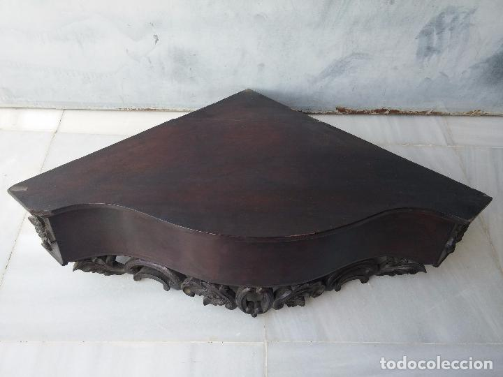 Antigüedades: Antigua repisa rinconera Isabelina en madera de caoba - Foto 3 - 85057632