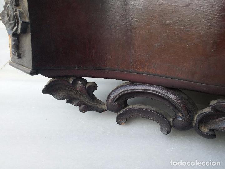 Antigüedades: Antigua repisa rinconera Isabelina en madera de caoba - Foto 4 - 85057632