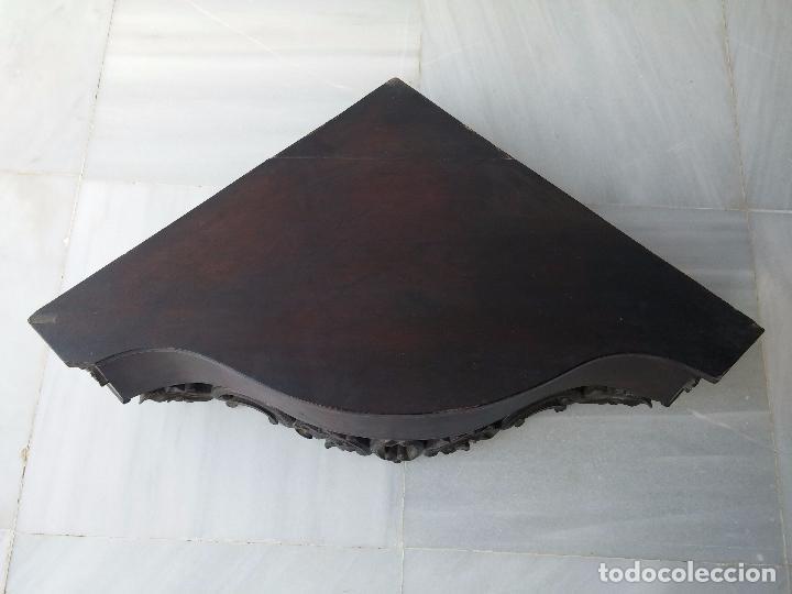 Antigüedades: Antigua repisa rinconera Isabelina en madera de caoba - Foto 5 - 85057632