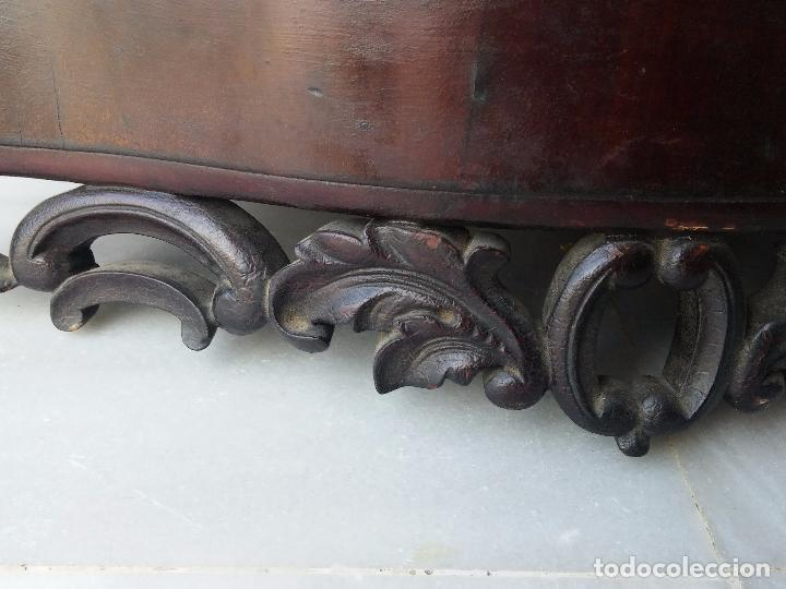 Antigüedades: Antigua repisa rinconera Isabelina en madera de caoba - Foto 7 - 85057632