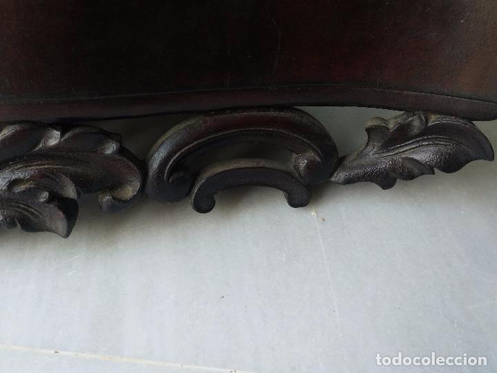Antigüedades: Antigua repisa rinconera Isabelina en madera de caoba - Foto 8 - 85057632