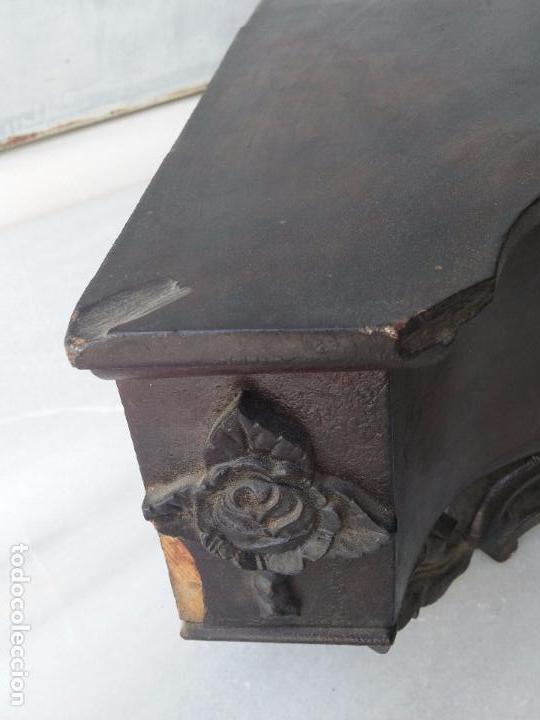 Antigüedades: Antigua repisa rinconera Isabelina en madera de caoba - Foto 13 - 85057632