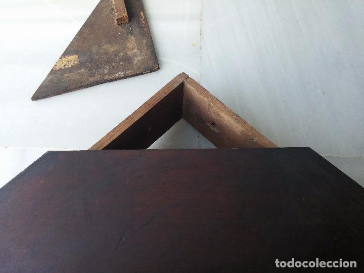 Antigüedades: Antigua repisa rinconera Isabelina en madera de caoba - Foto 14 - 85057632