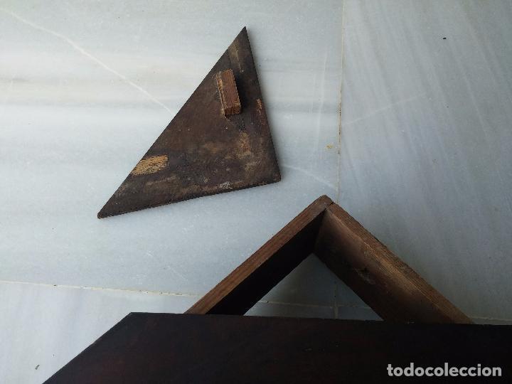 Antigüedades: Antigua repisa rinconera Isabelina en madera de caoba - Foto 15 - 85057632