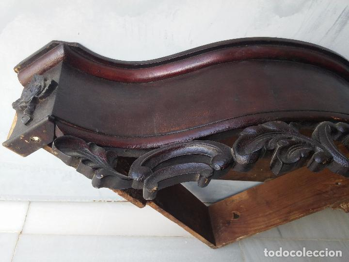 Antigüedades: Antigua repisa rinconera Isabelina en madera de caoba - Foto 17 - 85057632