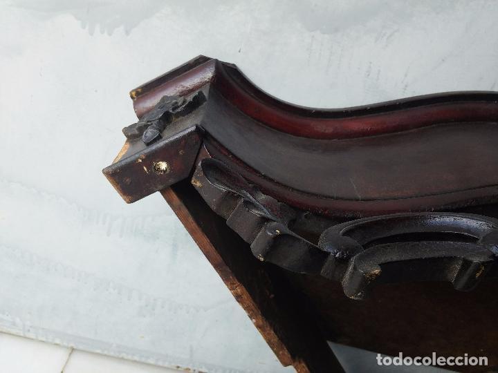 Antigüedades: Antigua repisa rinconera Isabelina en madera de caoba - Foto 25 - 85057632