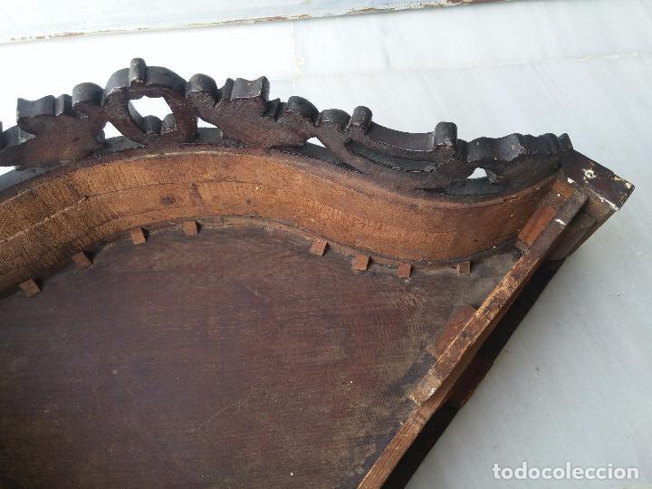 Antigüedades: Antigua repisa rinconera Isabelina en madera de caoba - Foto 30 - 85057632