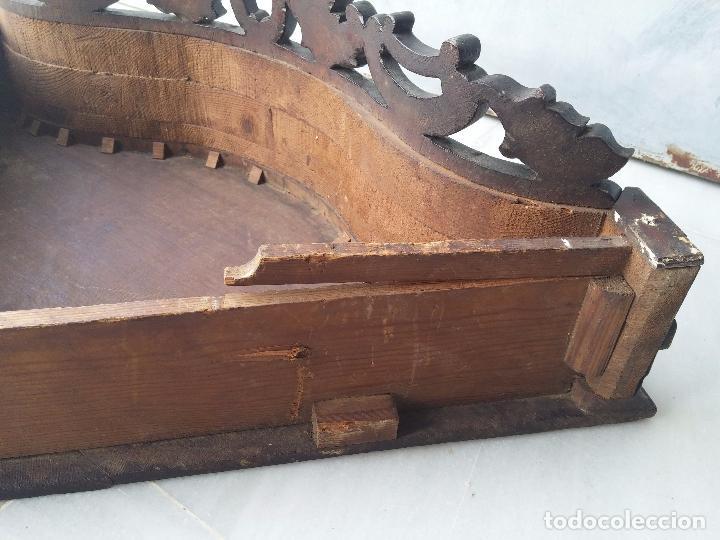 Antigüedades: Antigua repisa rinconera Isabelina en madera de caoba - Foto 34 - 85057632