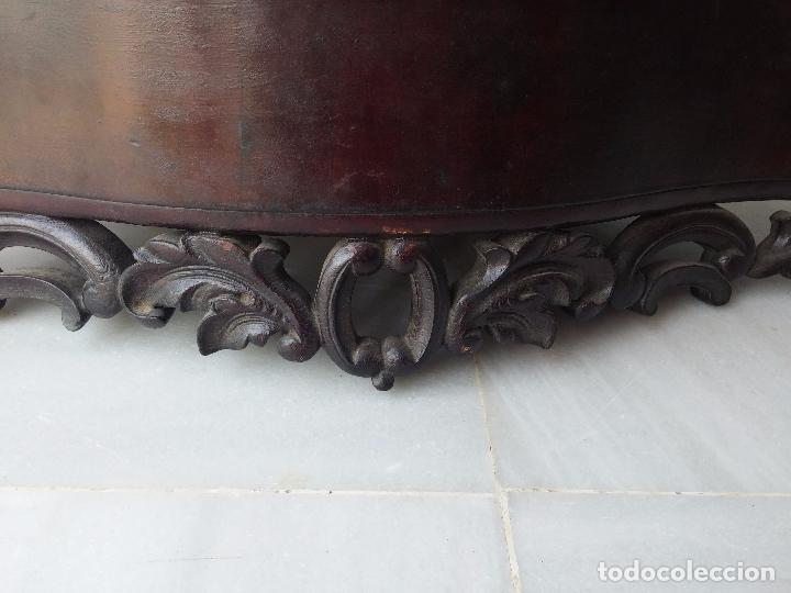 Antigüedades: Antigua repisa rinconera Isabelina en madera de caoba - Foto 35 - 85057632