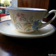 Antigüedades: PRECIOSA TAZA DE CAFÉ O TE MARIANO POLA GIJON. Lote 85061116