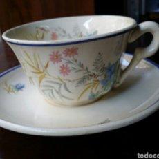 Antigüedades: PRECIOSA TAZA DE CAFÉ O TE MARIANO POLA GIJON. Lote 85062199