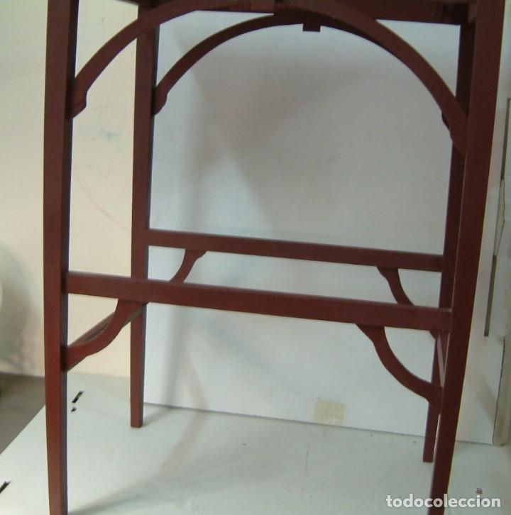 Antigüedades: Mesita auxiliar - antigua - modernista restaurada - Foto 2 - 85086208