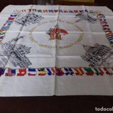 Antigüedades: ANTIGUO PAÑUELO CONMEMORATIVO DEL JUBILEO DE 1950.. Lote 85088640