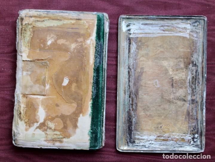 Antigüedades: ANTIGUO CARNET DE BAILE O TARJETERO EN PLATA CON PINTURA, 10 x 6,5 cm - S.XIX - Foto 4 - 85093316