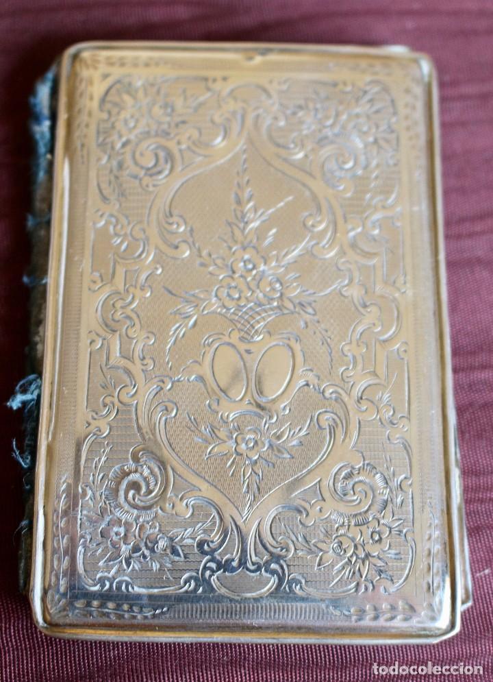 Antigüedades: ANTIGUO CARNET DE BAILE O TARJETERO EN PLATA CON PINTURA, 10 X 6,5 CM - S.XIX - Foto 3 - 85093516