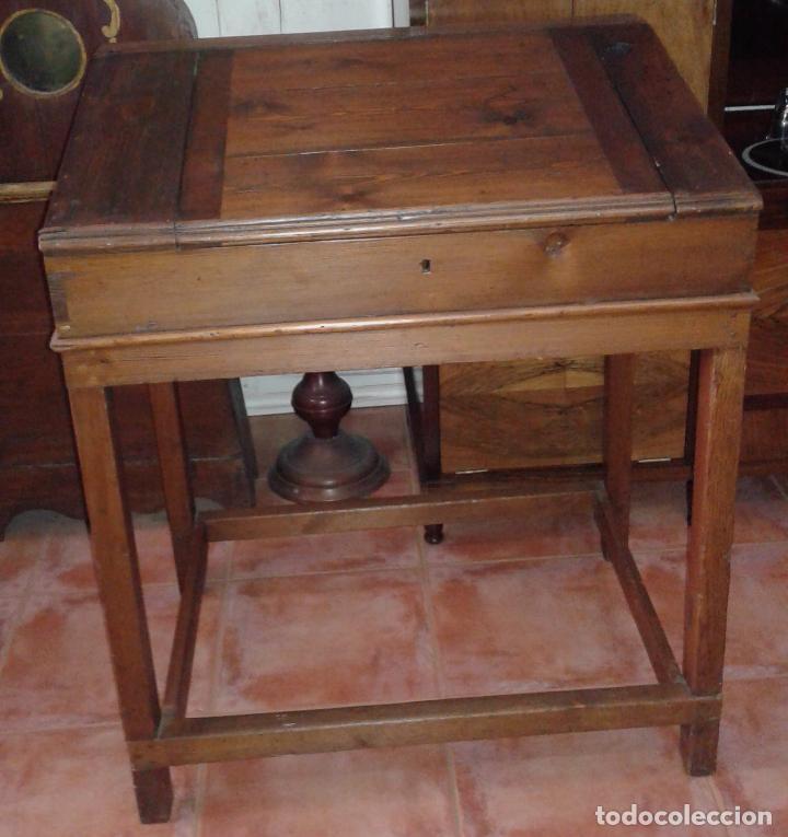 Antigüedades: pupitre / siglo XIX - Foto 2 - 30174839